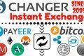 CHANGER - ritira soldi da payeer e molto altro